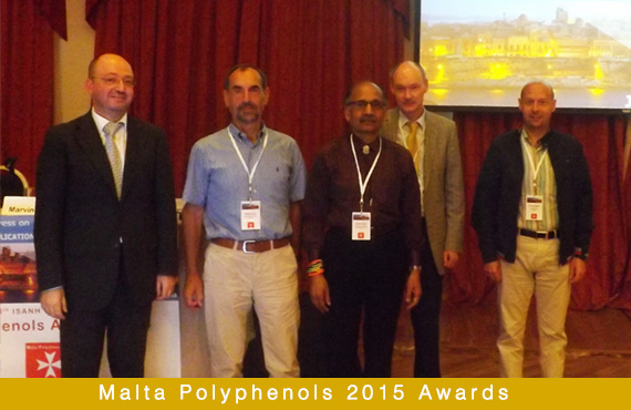 Three Awards were discerned during the 9th ISANH World Congress on Polyphenols Applications