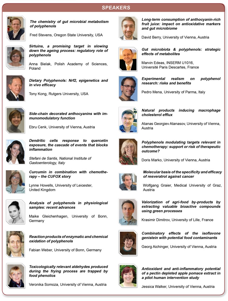 Vienna polyphenols - speakers 2017
